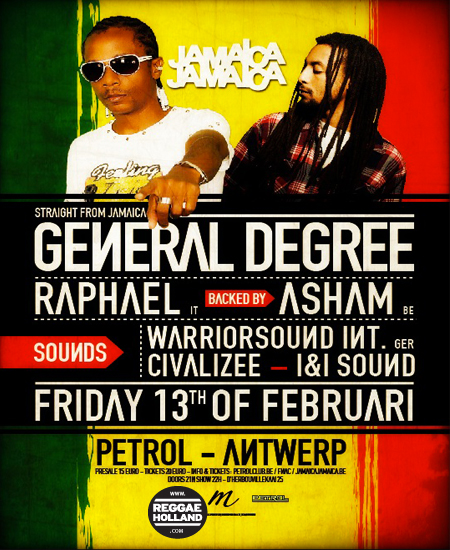 GENERAL DEGREE + SUPPORT ACTS & MORE | ReggaeHolland